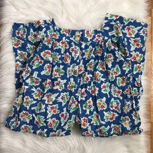 VTG Floral Highwaisted Paperbag Pants Fits 8-10